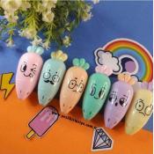 Fosforlu Kalem 6 lı Mini Boy Pastel Renkler Havuç