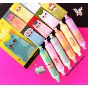 Fosforlu Kalem 6 lı Mini Boy Pastel Renkler Şeker